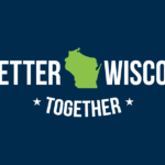 a better wisconsin together logo on dark