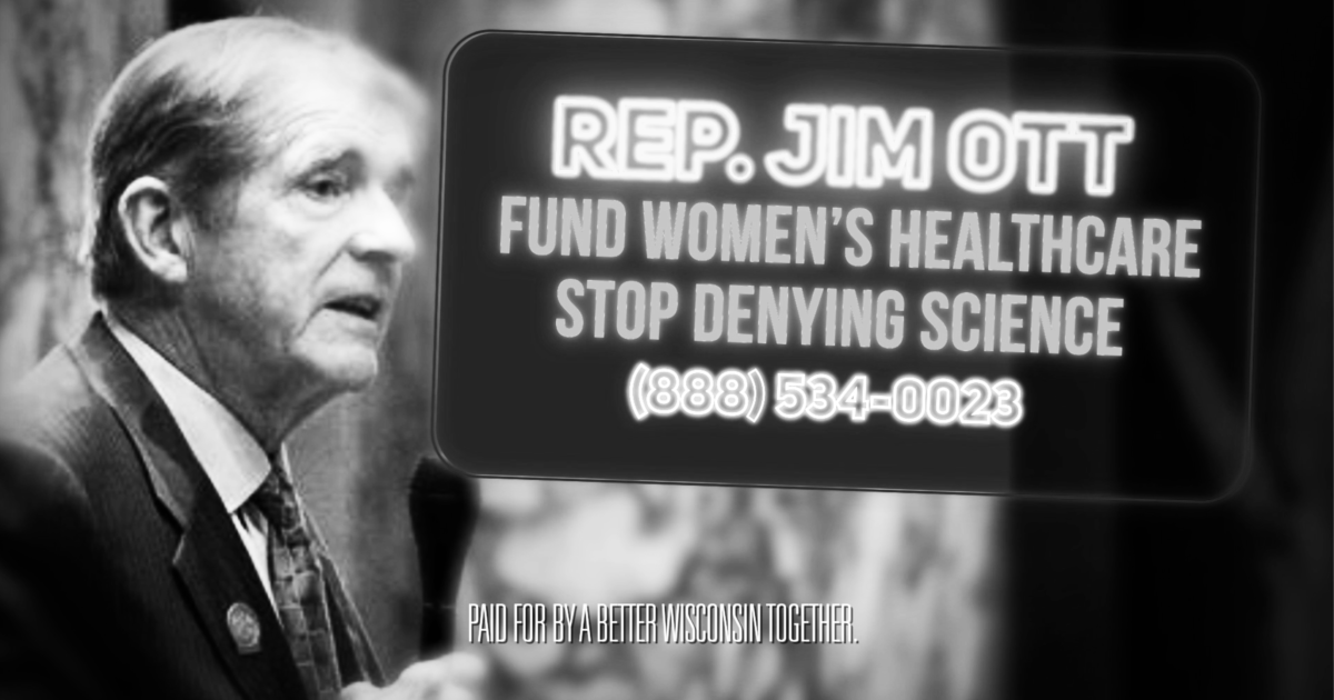 profile of republican wisconsin representative jim ott with mouth open