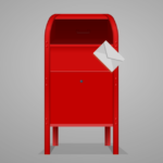 post box with envelope