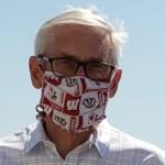tony evers and mandela barnes wearing masks